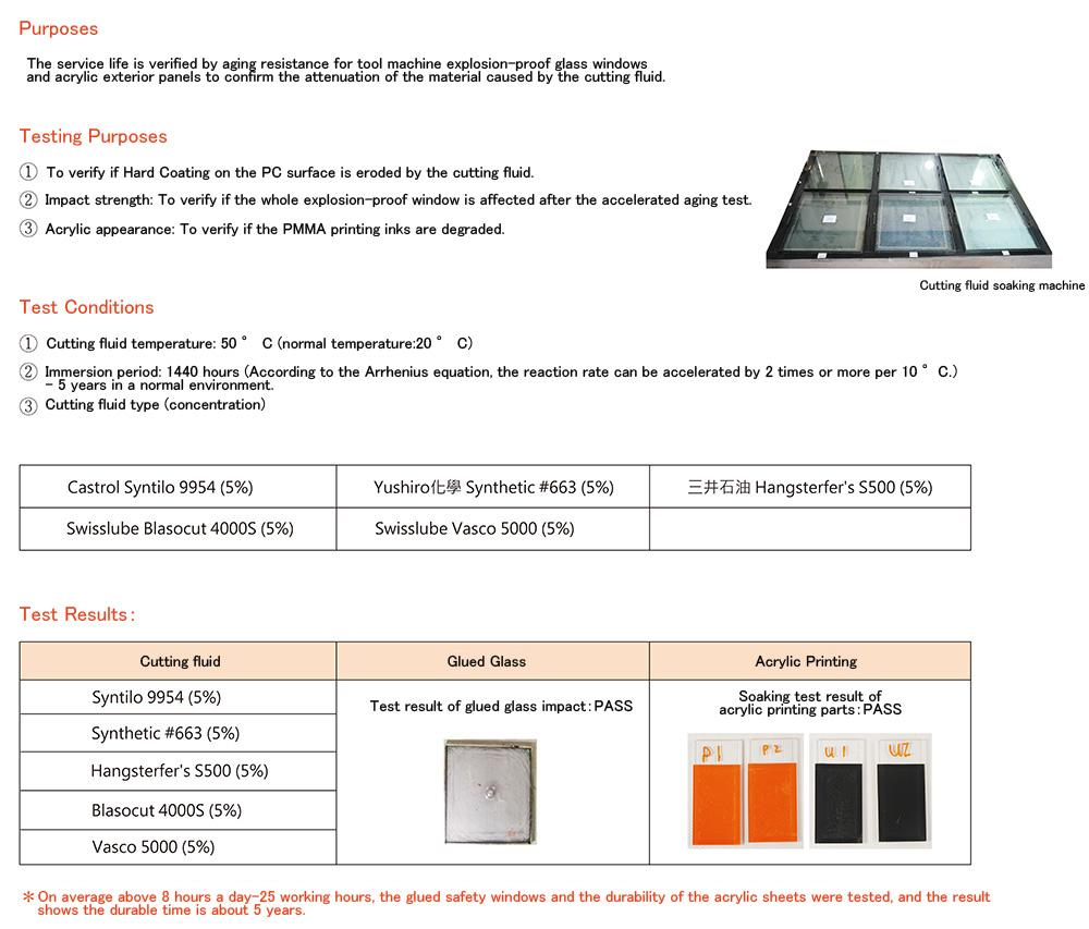 LMT-LPC 工具機用防爆安全窗 單層結構_技術測試_圖片 EN