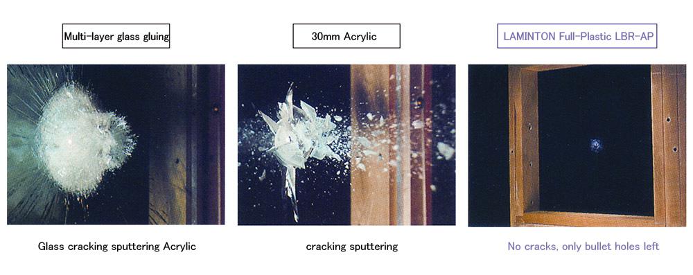 LBR-AP 防彈玻璃 全塑料型_技術測試_圖片EN